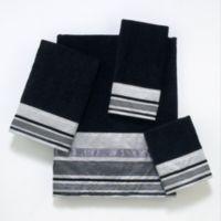 Avanti Geneva Bath Towel in Black/Silver