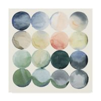 Trademark Fine Art Pastel Hoops I 24-Inch Square Canvas Wall Art
