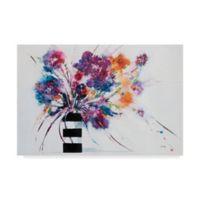 Trademark Fine Art Stripes Crop 12-Inch x 19-Inch Canvas Wall Art