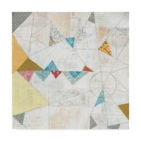 Trademark Fine Art Map Collage Crop 24-Inch Square Canvas Wall Art