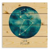 Designs Direct Leo Zodiac Sign Pallet Wood Wall Art