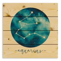 Designs Direct Aquarius Zodiac Sign Pallet Wood Wall Art