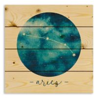 Designs Direct Aries Zodiac Sign Pallet Wood Wall Art