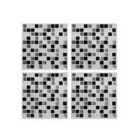 Roommates® 4-Pack Peel & Stick Metallic Checkerboard StickTILES