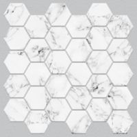Roommates® 4-Pack Marble Hex Peel & Stick StickTILES in White