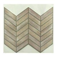 Roommates® 4-Pack Chevron Distressed Wood Peel & Stick StickTILES