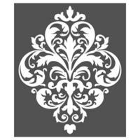Large Damask Stencil Wall Decal