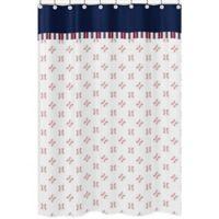 Sweet Jojo Designs® Baseball Print Multicolor Shower Curtain