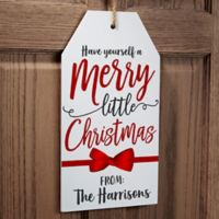 Gift Tag Greetings Personalized Wall Tag