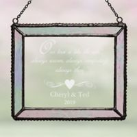 Our Shining Love Personalized Suncatcher