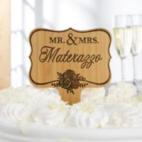 Newlywed Name Wooden Personalized Cake Topper