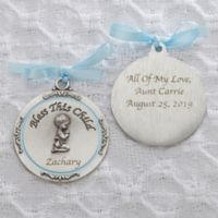 Baptism Blessings Boy Crib Medallion