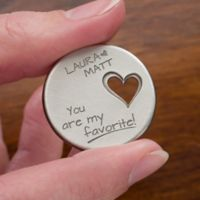 Couple In Love Personalized Heart Pocket Token