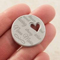 For Her Personalized Heart Pocket Token