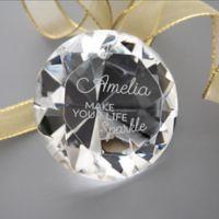 Make Your Life Sparkle Diamond Keepsake in Glass