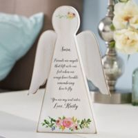 Write Your Own Floral Friendship Personalized Wood Angel
