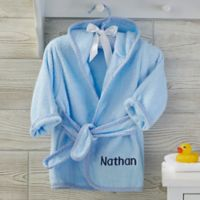 Soft Terry Personalized Baby Robe in Blue