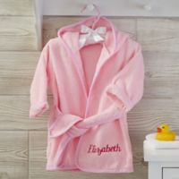Soft Terry Personalized Baby Robe in Pink