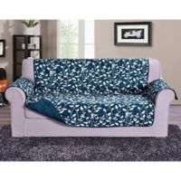Leaf Sofa Protector in Navy