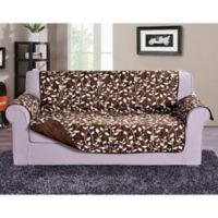 Leaf Sofa Protector in Chocolate Brown