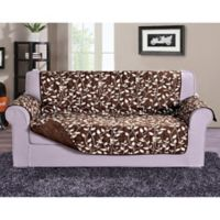 Leaf Oversized Sofa Protector in Chocolate Brown