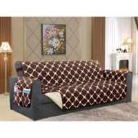 Leaf Oversized Sofa Protector in Chocolate
