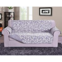 Leaf Oversized Sofa Protector in Lilac