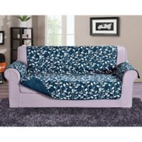 Leaf Oversized Sofa Protector in Navy