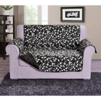 Leaf Loveseat Sofa Protector in Black