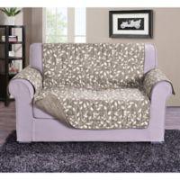 Leaf Loveseat Sofa Protector in Cream