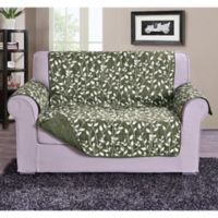 Leaf Loveseat Sofa Protector in Sage