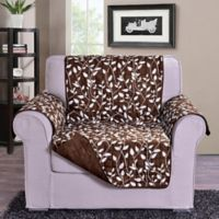 Leaf Chair Sofa Protector in Chocolate Brown