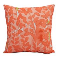 E by Design Market Flowers Bell Peach Floral Decorative Throw Pillow in Peach