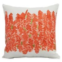 E by Design Market Flowers Bell Bunch Peach Floral Decorative Throw Pillow in Peach/White