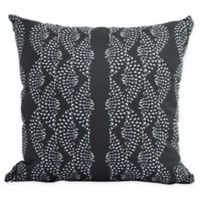 E by Design Fickle Floral Dotted Geometric Decorative Pillow in Black
