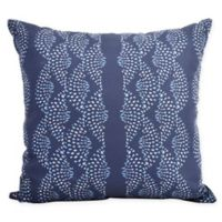 E by Design Fickle Floral Dotted Geometric Decorative Pillow in Blue