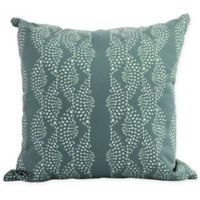 E by Design Fickle Floral Dotted Geometric Decorative Pillow in Green