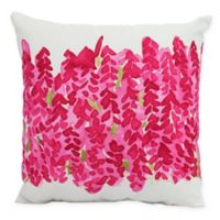 E By Design Market Flowers Bell Bunch Decorative Throw Pillow in Pink