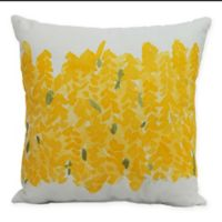 E By Design Market Flowers Bell Bunch Decorative Throw Pillow in Yellow