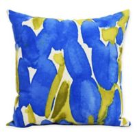 E By Design Market Flowers Sunset Tulip Decorative Throw Pillow in Blue