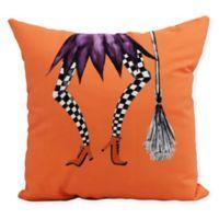 E by Design Witches Brew Esmerelda Square Throw Pillow in Orange