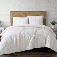 Brooklyn Loom Photo King Comforter Set in Tan