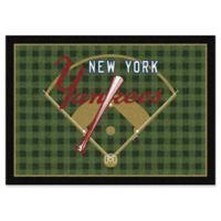 "MLB Team Field New York Yankees 5'4"" x 7'8"" Area Rug"