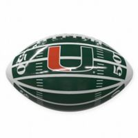 University of Miami Field Mini-Size Glossy Football