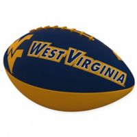 West Virginia University Combo Logo Junior-Size Rubber Football