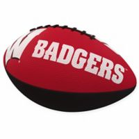University of Wisconsin Combo Logo Junior-Size Rubber Football