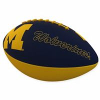 University of Michigan Combo Logo Junior-Size Rubber Football