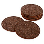 Dark Cork Coasters (Set of 6)