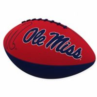 University of Mississippi Combo Logo Junior-Size Rubber Football