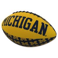 University of Michigan Repeating Logo Mini-Size Rubber Football
